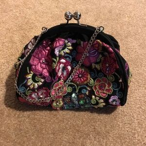 Vera Bradley Purse 25th Anniversary Kiss Lock Bag